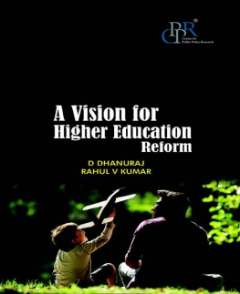 A Vision For Higher Education Reform -