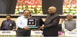 President of India Ram Nath Kovind unveiling the first indigenous fuel cell system developed by CSIR