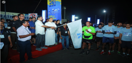 Rajagiri Marathon Flag Off by Rev Fr Varghese Kachappilly,CMI, Principal, Rajagiri Public School and Sam Thomas, PTA President