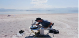 Photo by Caltech -Scientists examine nematodes at Mono Lake