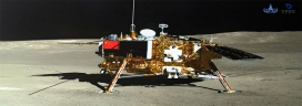 China's Rover Studies Stones on Moon's Far Side