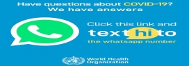 WHO WhatsApp health alert launches in Arabic, French and Spanish